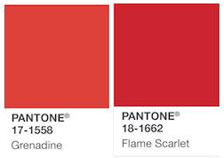 Pantone rojo 17-1558