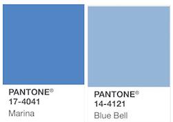 Pantone de color azul 17-4041