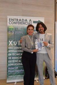 Dr. Jean Pierre Amsellem ponente de XVIII encuentro internacional en técnica de medicina estética y longevidad, con Paola Marín de Revista Bfit