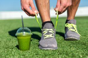 Smooting verde uno de los alimentos que puedes comer antes de entrenar