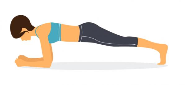 Ejercicio de fitness para fortalecer la columna y abdomen
