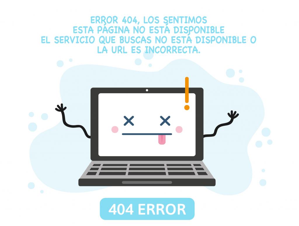 Error 404 de la página de Revista Bfit