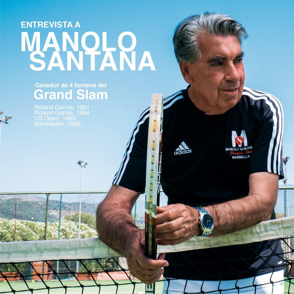 Manolo Santana ídolo del tenis español