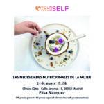Cartel con información del taller nutrición en Madrid