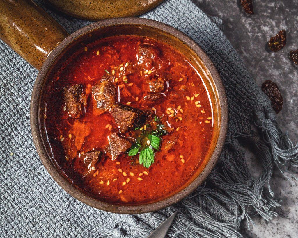 Curry Recetas: Gambas en salsa de curry rojo