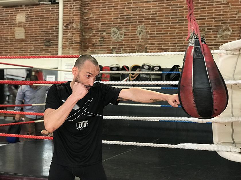 Entrenamiento de boxeo de Quique Guijarro