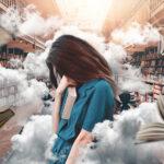 Mujer con bajo rendimiento mental por el estrés