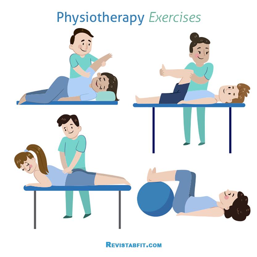 dibujos de Ejercicios de fisioterapia