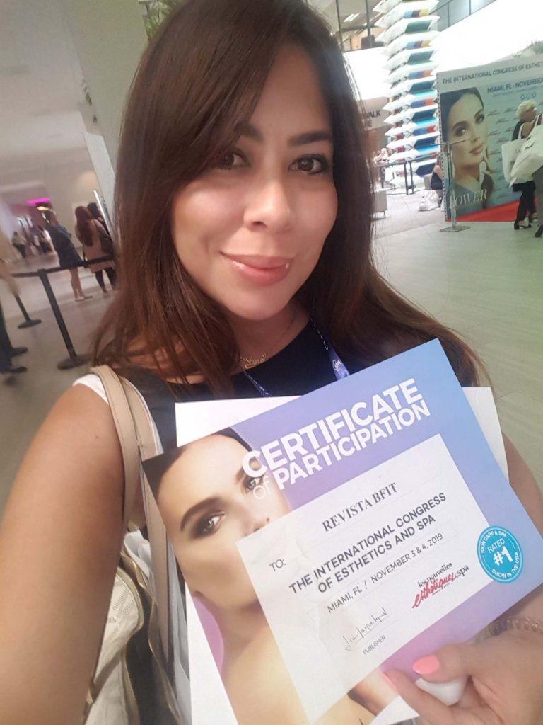 Lina Palacio, directora de la Revista Bfit, presente en el Congreso Internacional de la Estética y Spa