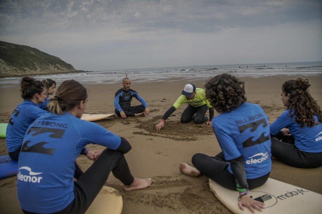 Quique Guijarro con su grupo de surf. Nos cuenta que significa el surf para él y lo más difícil del surf