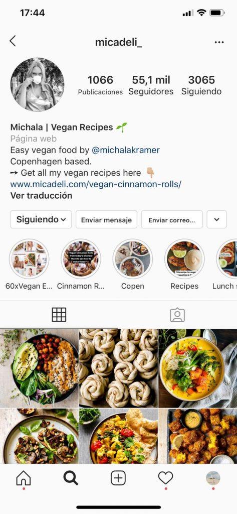 Michala Kramer, Micadeli, vegan food blog