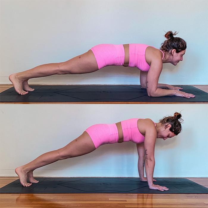 fortalecimiento de brazos para realizar postura yoga