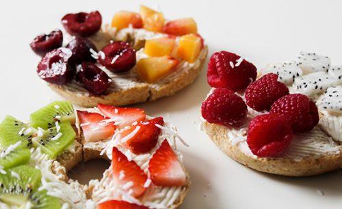 Meriendas saludables de frutas