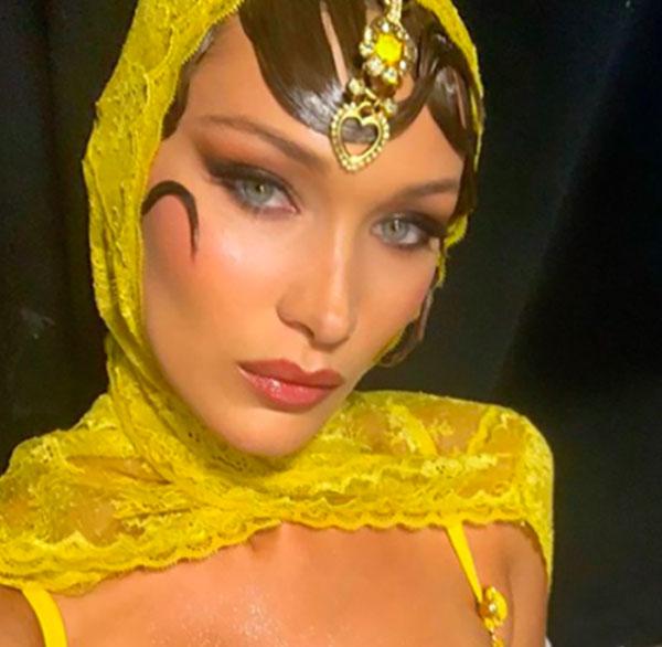 Foxy eyeses el maquillaje favorito de Bella Hadid,