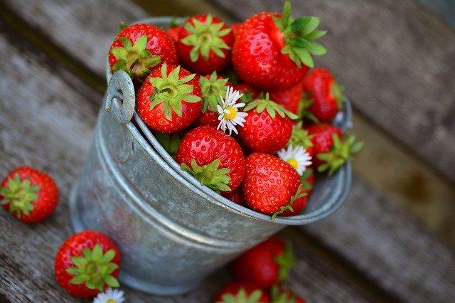 El colágeno en alimentos: Fresas