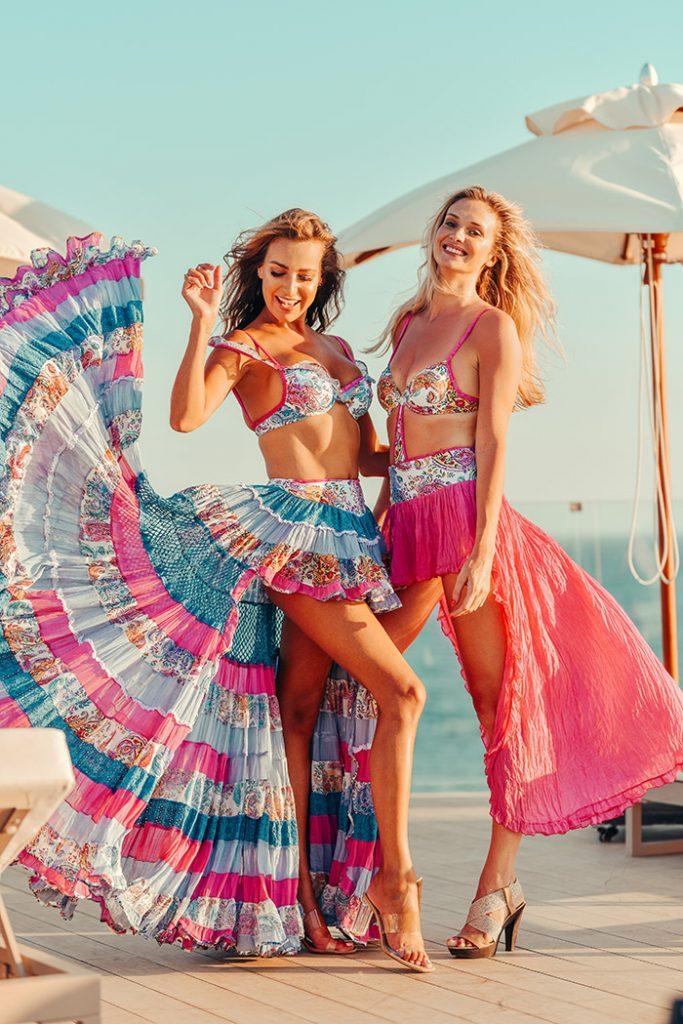 Fashion Shoot Adlib Ibiza 2020, faldas diseños por Piluca Bayarri