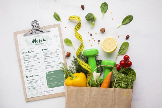 menú y guía de coaching nutricional