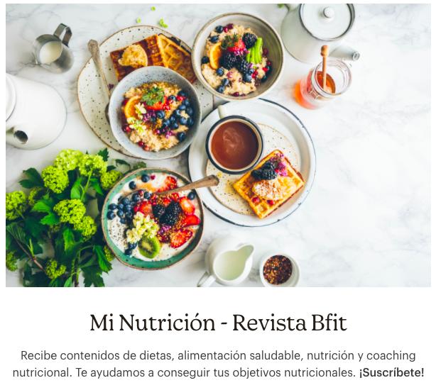 Mi nutrición de Revista Bfit